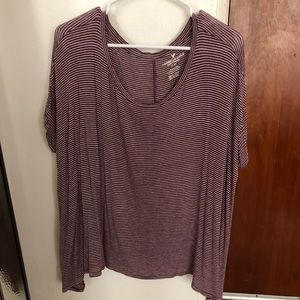 American eagle striped oversized/relaxed tee